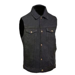 Men's Denim Vest Motorcycle Concealed Carry Vest